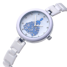 KEZZI 100% genuine ceramic watches brand women diamond crystal hours,Japan Quartz Movement watch,Free shipping