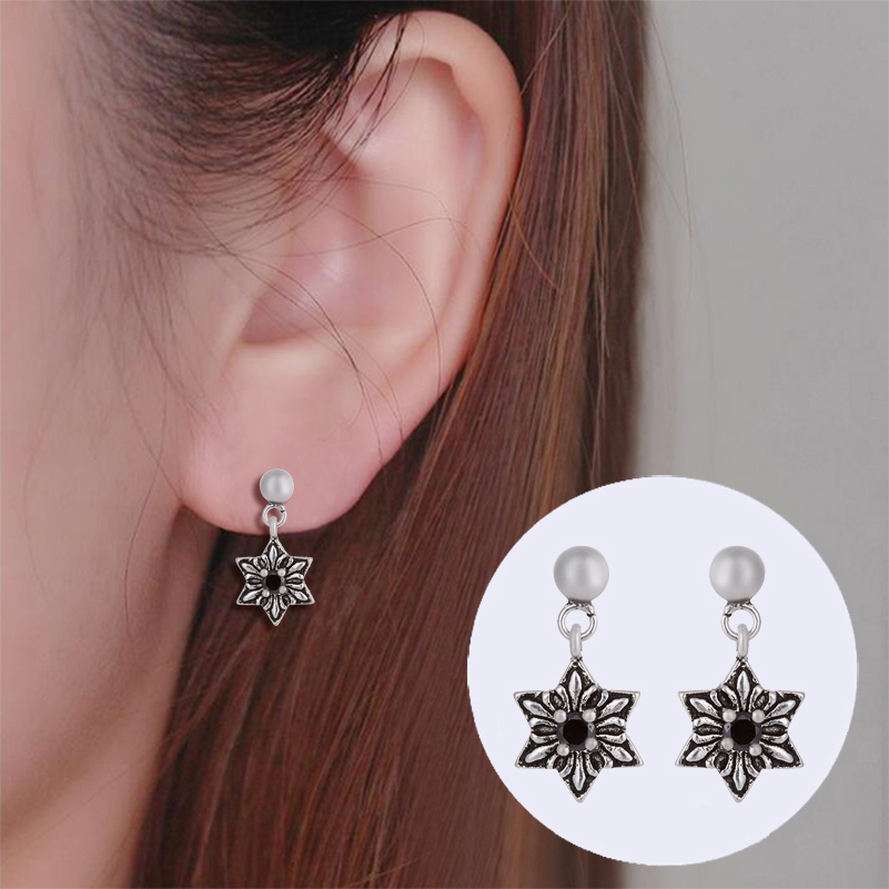 yiustar New Fashion Star Stud Earring Jewelry Retro Hexagonal Star Women & Men Earings SYED164
