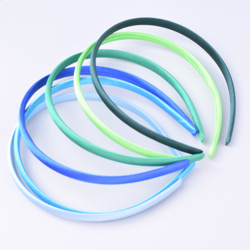 Image 5 - 60pcs/lot DIY Satin Covered Headbands 10mm Solid Fabric Covered Resin Hair Band Plastic Hairbands Girls Hair Headband for Women-in Hair Accessories from Mother & Kids