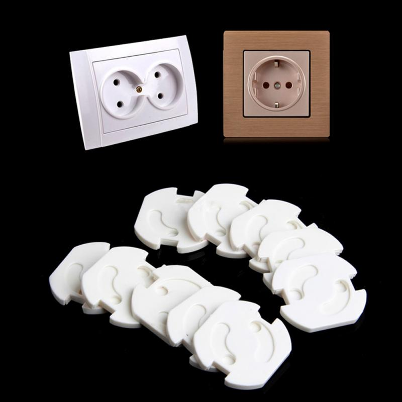10 Pcs EU Socket Outlet Baby Child Child Safety Protection Anti - Current Plug Protector Turning Cover Baby Safety