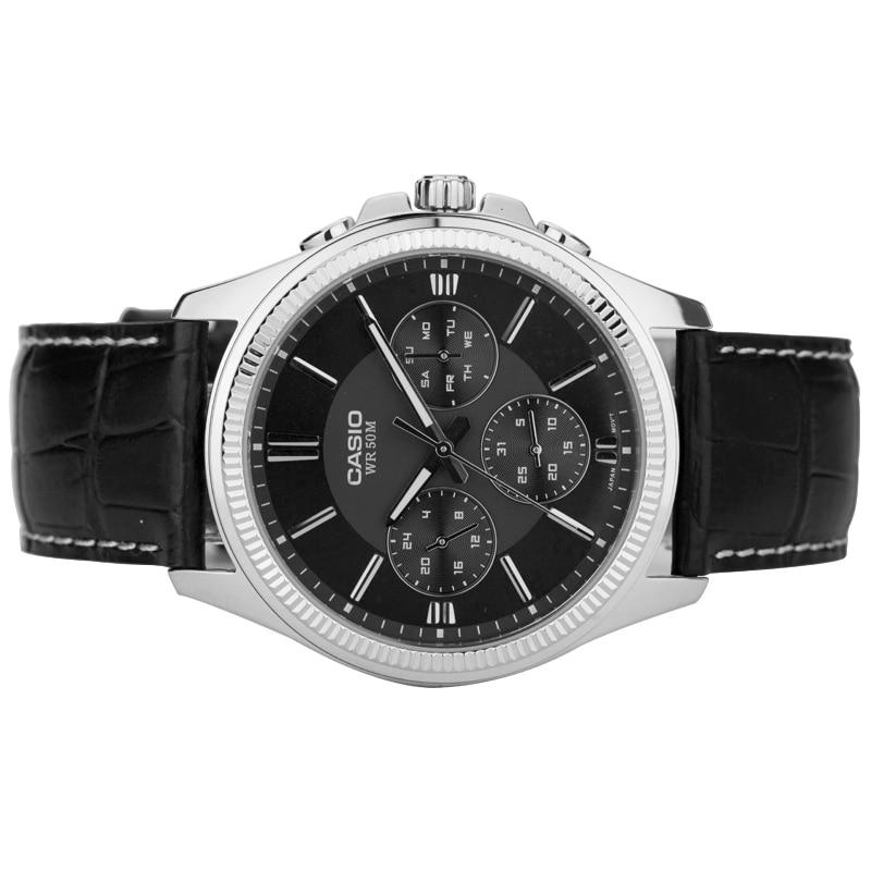 Casio นาฬิกาควอตซ์ผู้ชายนาฬิกา MTP 1375L 1A-ใน นาฬิกาควอตซ์ จาก นาฬิกาข้อมือ บน   2