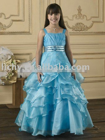 Custom Made Flower Girls Dress , 2010 Design Flower Girl Dress , Flower Girl Gown lya8545
