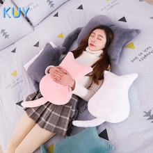Hot 2019 New Cute Cat plush Toy cushions pillow Back Shadow Cat Filled animal pillow toys Kids Gift Home Decor For Christmas
