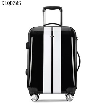 KLQDZMS High Quality20 Inch PC Rolling Luggage Spinner Brand Travel Bag Business Travel Suitcase Wheels