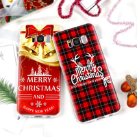 Christmas Case for iPhone X 8 6 6S 7 Plus 4S 5 5S SE 5C Cover for Samsung Galaxy S7 Edge S8 Plus J3 J5 J7 A3 A5 2016 2017 Prime