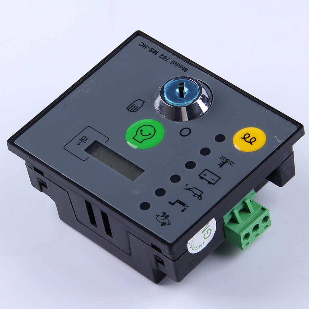 Electronic Control Module >> Manual Start Generator Controller Unit Ms702 Key Start Pannel Module Genset Parts Diesel Alternator Electronic Controller Board