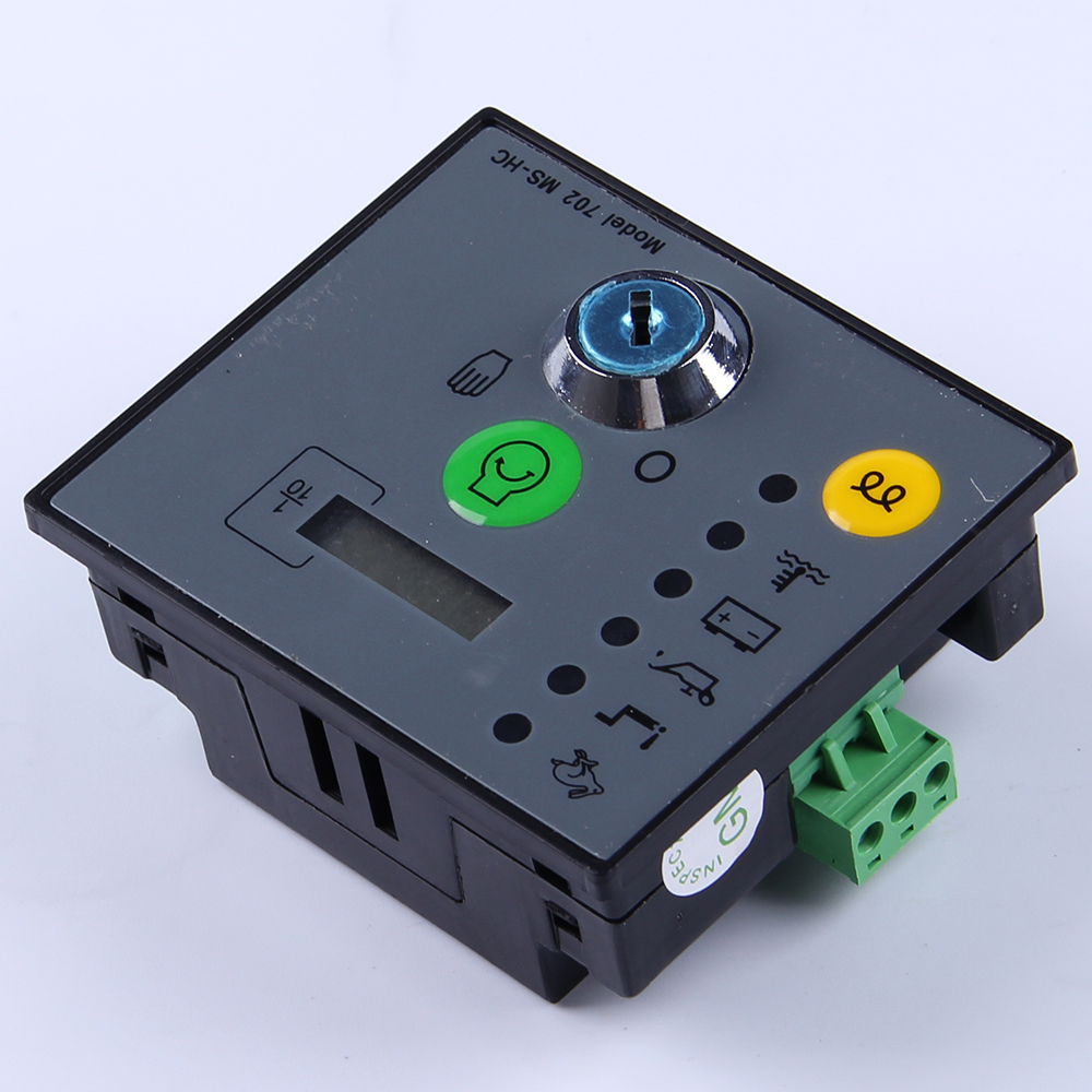 Manual start Generator Controller unit MS702 Key Start Pannel Module genset parts diesel alternator electronic controller board electronic component