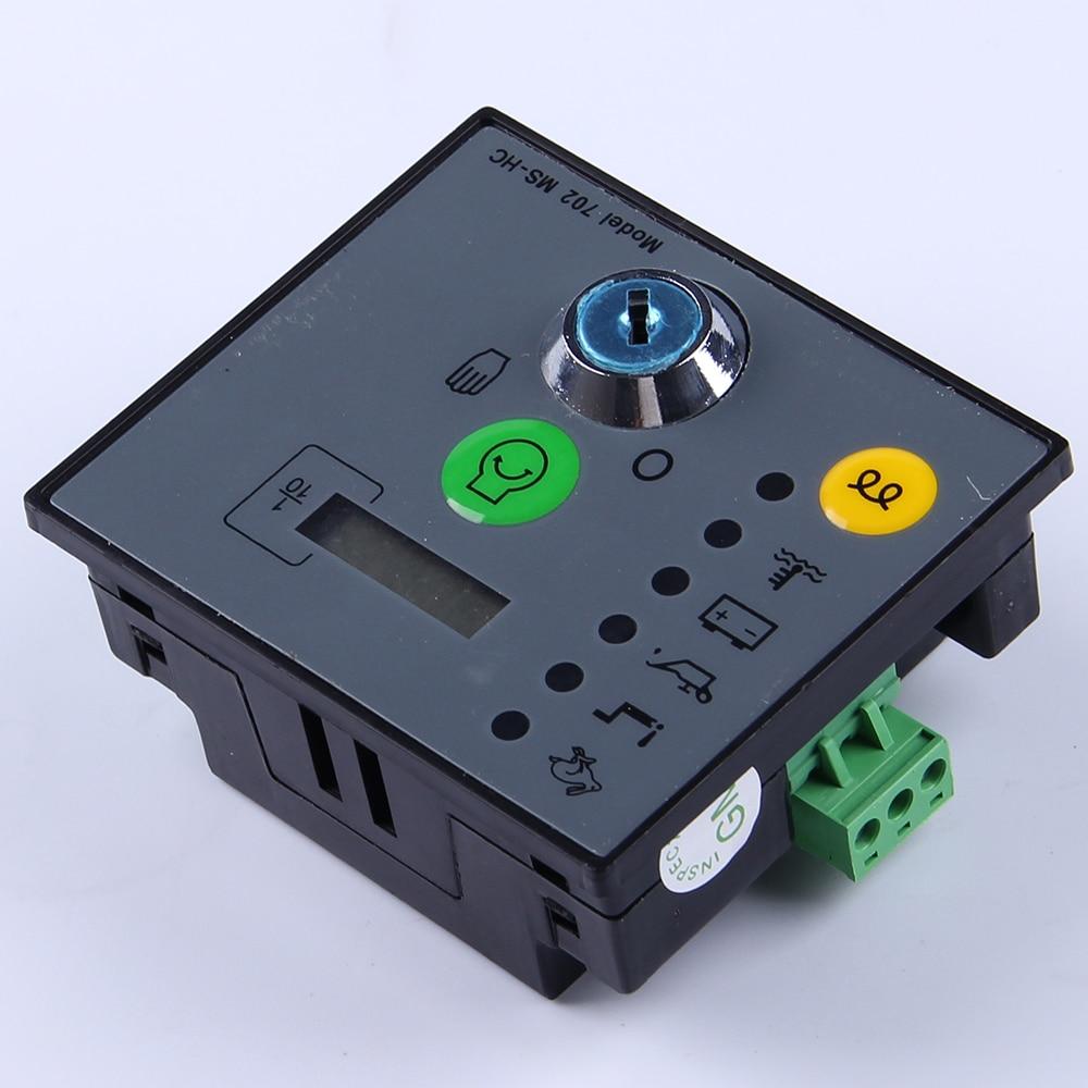 Manual start Generator Controller unit MS702 Key Start Pannel Module genset parts diesel alternator electronic controller board mebay 501k manual board key start generator control module