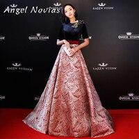 Angel Novias Long Red Carpet Celebrity Dress 2018 Floor Length Prom Dress