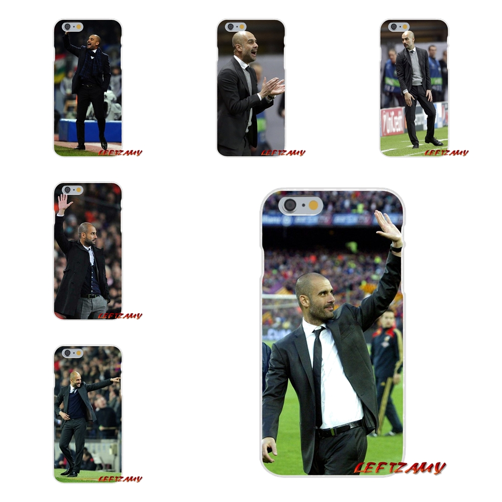 For iPhone X 4 4S 5 5S 5C SE 6 6S 7 8 Plus World Soccer Coach Pep Guardiola Soft Phone Case Silicone