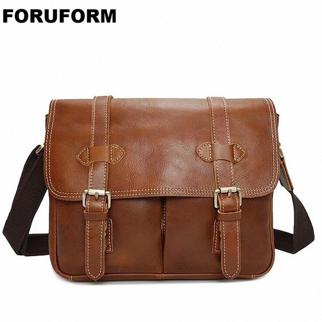 deb8c36dc0a2 Vintage Genuine Leather DSLR Camera Bag Canon Sony Nikon Shoulder Bag Cow Leather  Messenger Bag Handbag For Men Women LI-2035