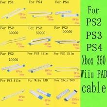 100 قطعة 7000x75000 77000 الطاقة إعادة تعيين التبديل الشريط الكابلات المرنة ل PS2 30000 50000 70000 79000 90000 ل PS4 PS3 سليم Wiiu الوسادة