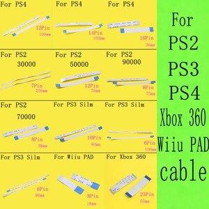 100 ADET 7000x75000 77000 Güç Sıfırlama Anahtarı Şerit Flex Kablo Için PS2 30000 50000 70000 79000 90000 PS4 PS3 ince Wii U pad