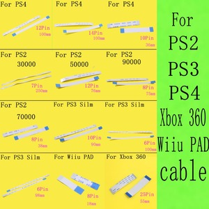 Image 1 - 100PCS 7000x 75000 77000 Power Reset Switch Ribbon Flex Cable For PS2 30000 50000 70000 79000 90000 for PS4 PS3 slim Wiiu pad