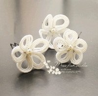 Free Shipping Handmade Custom Made Lots Sale Flower Hair Sticks For Wedding Party Summer Holiday Beach
