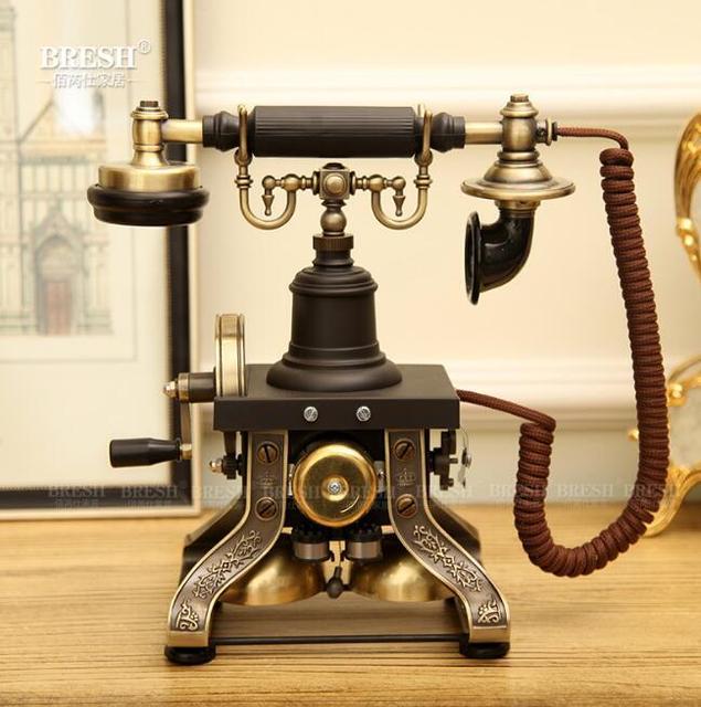Европейский Поворотный Античная Старинные Бытовые Фиксированной Телефонной линии Высокого класса Для Бизнес-Офис Главная Черный Корабль Fedex DHL