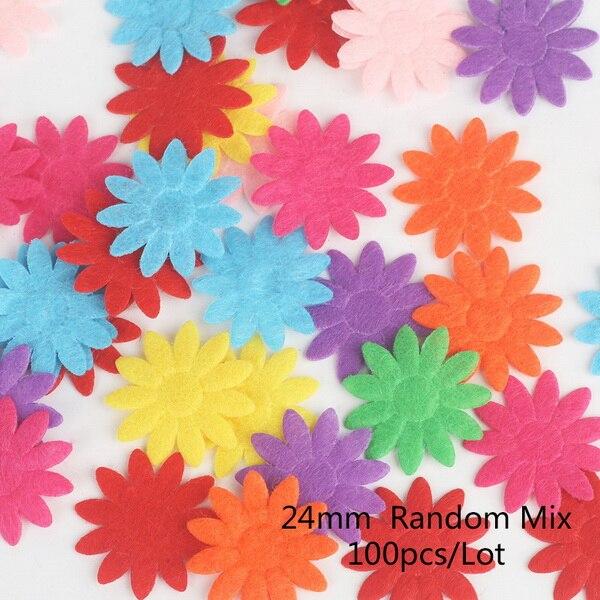 100 шт цветок/Сердце/Бабочка Нетканая фетровая ткань Войлок DIY Набор для шитья кукол скрапбук DIY ремесленные принадлежности - Цвет: Type 12