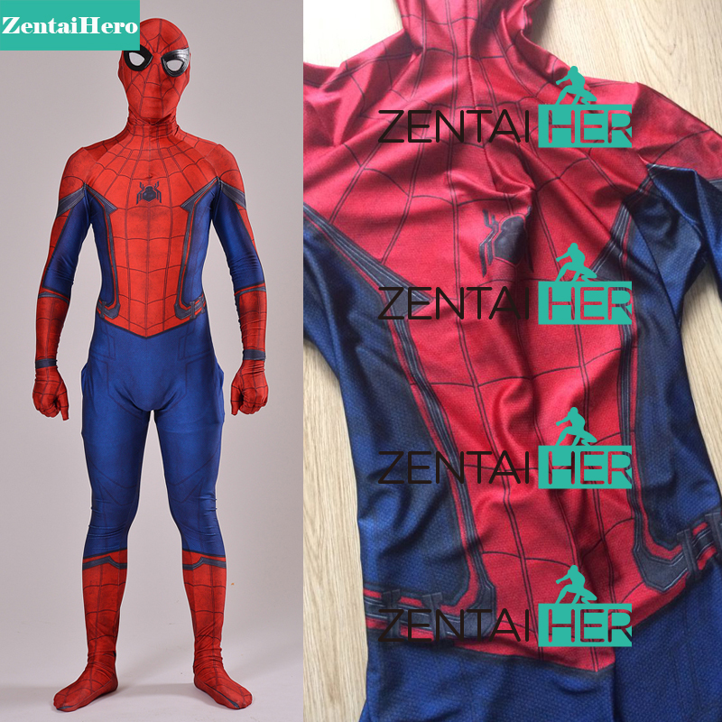 Free Shipping DHL Civil War Spiderman Costume 3D Shade