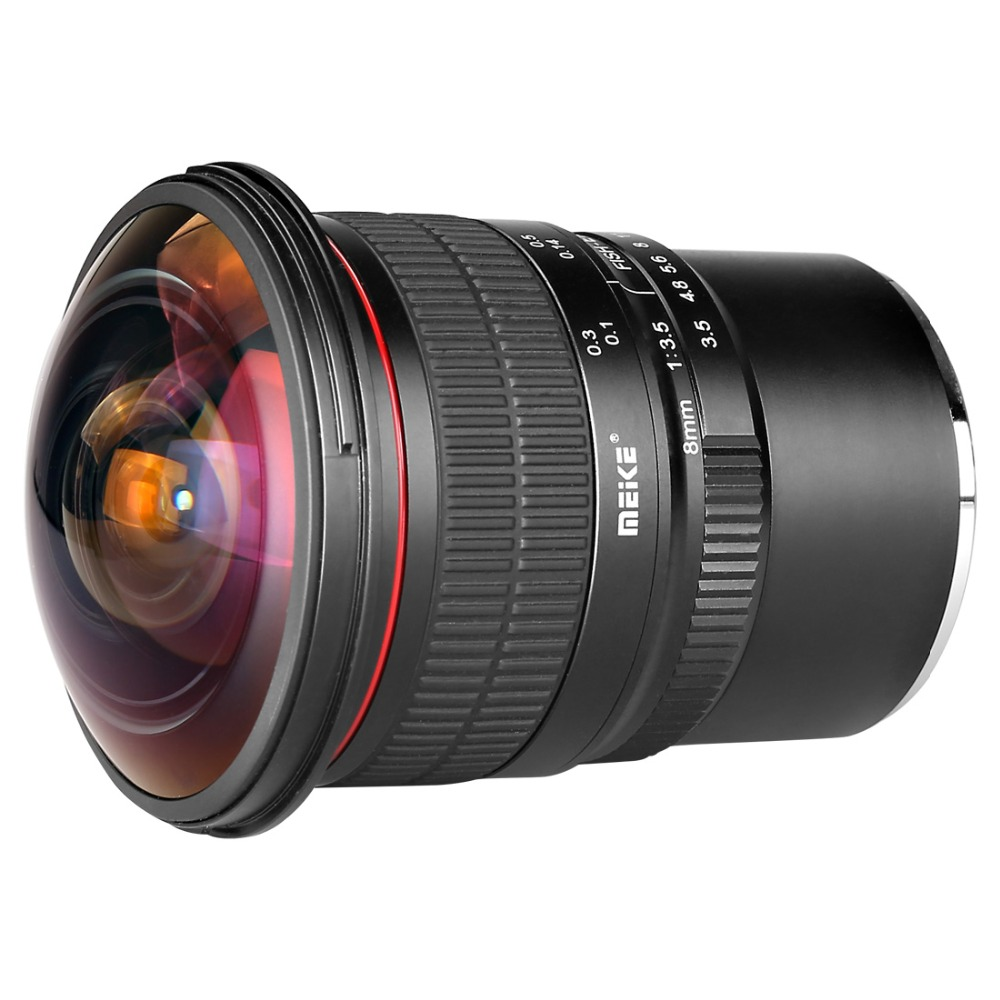 Mcoplus Meike 8mm F3.5 Ultra Wide Angle Fisheye Lens for Sony NEX E-mount A7 A6300 A6000 with APS-C/Full-Frame meike 8mm f 3 5 wide angle fisheye lens camera lenses for sony a6000 alpha and nex mirrorless e mount camera with aps c