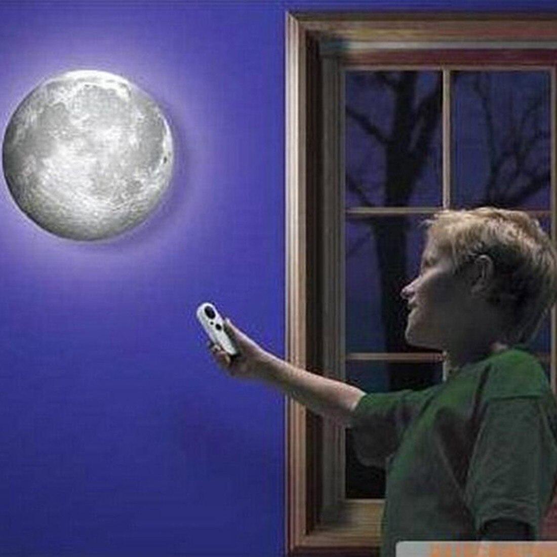 Interior 6 Tipos Fase da Lua Parede LEVOU Lâmpada Com Controle Remoto de Parede Lua Cura Lâmpada Do Teto Parede Lâmpada Pendurada para As Crianças