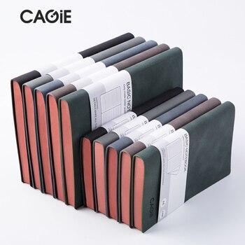 CAGIE a5 Notebook Jornal Diário Do Vintage 2018 De Couro Organizador Planejador Diário Agenda Filofax Notebook Viajantes Diário a6