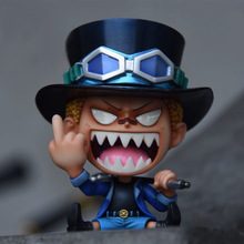 10cm One Piece Sabo middle finger Action figure toys collection doll Christmas gift with box