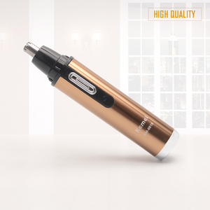 Электрический триммер для волос в носу, перезаряжаемый профессиональный триммер для волос в носу цвета шампанского, для мужчин и женщин, брендовый триммер для волос в ушах