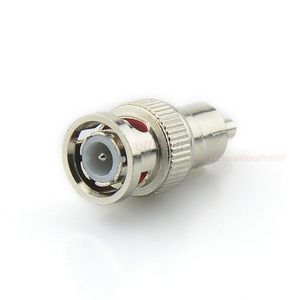 Image 2 - BNC Male to RCA Male Coax Connector Adapter Cable Coupler for CCTV Camera