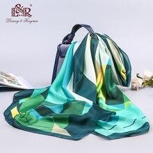 2019 luxury brand summer women scarf fashion quality  silk scarves female shawls Foulard Beach cover-ups wraps bandana