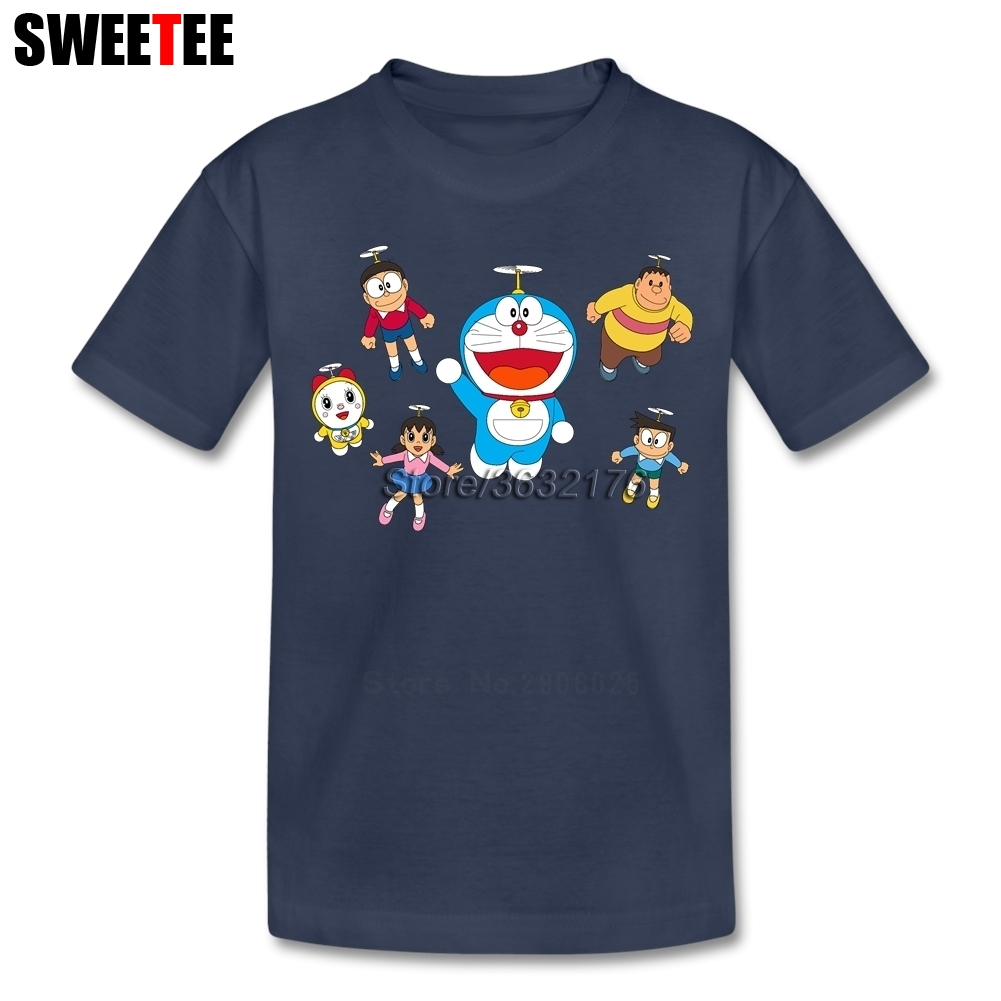 children T Shirt rock infant Pure Cotton Crew Neck doraemon kid Tshirt 2018 toddler Clothing boy girl T-shirt For baby