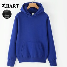 Girls Woman Fleece Hoodies Black Gray White Navy Blue Royal Blue Pink Red Yellow Solid Pure Color couple clothes ZIIART onlitop 1231447 р 30 33 blue yellow red