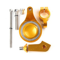 For Yamaha YZF R6 2006 2007 2008 2009 2010 2011 2012 Motorcycle Steering Damper Stabilizer Mounting Bracket Kit Gold