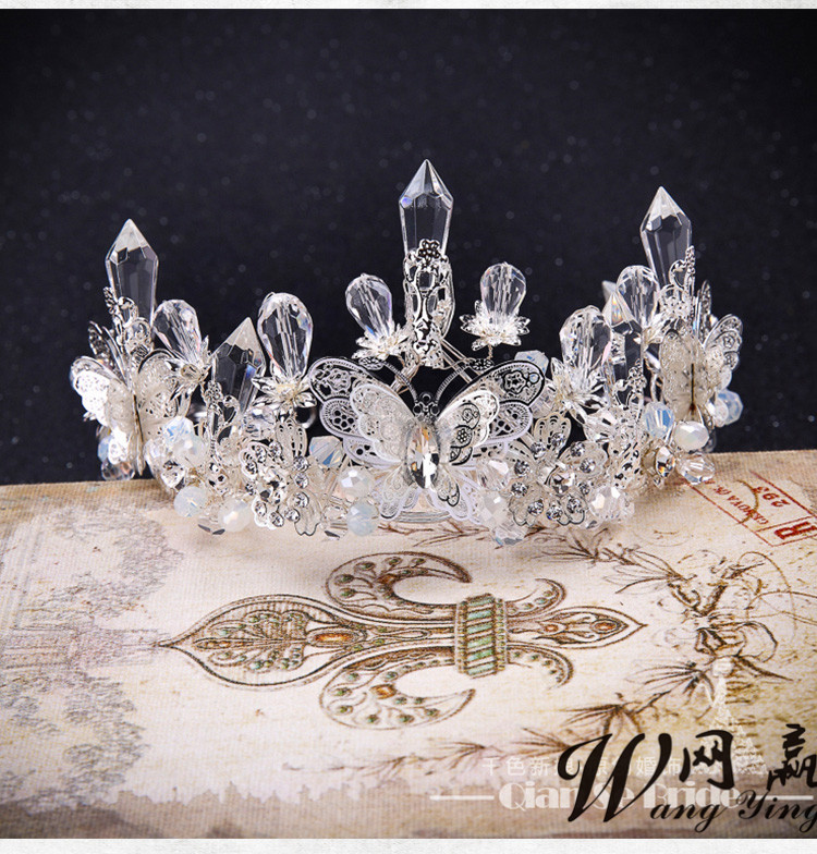 Princess Bridal Hat Cheap Alloy Crystal Hair Wedding Accessories Bridal Crown Real Image Free Shipping In Stock Bridal Headpiece