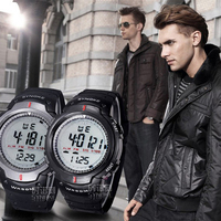 Alarm Function Date And Time Stopwatch Timing Watches Waterproof Outdoor Sports Men Digital LED Quartz Alarm