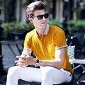 2017 Новый мужская Polo Рубашки Высокого Качества Летняя Мода Размер плюс Случайные Бизнес Polo Рубашки Мужчин Случайные Рубашки Тянуть Homme C3D7