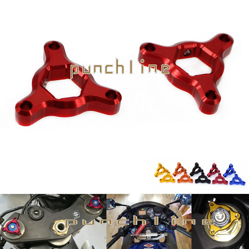 For Kawasaki Z800 2013-2015 Motorcycle Accessories 14mm CNC Aluninum Suspension Fork Preload Adjusters Red