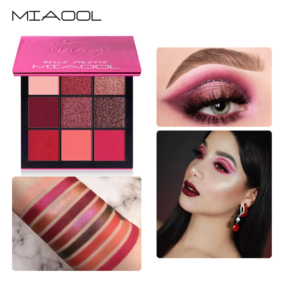 Eye Shadow Miaool Obsessions Palette Topaz 9 Colors Shimmer Matte Eyeshadow Palette Beauty Precious Stone Mini Makeup Eye Shadow Beauty & Health