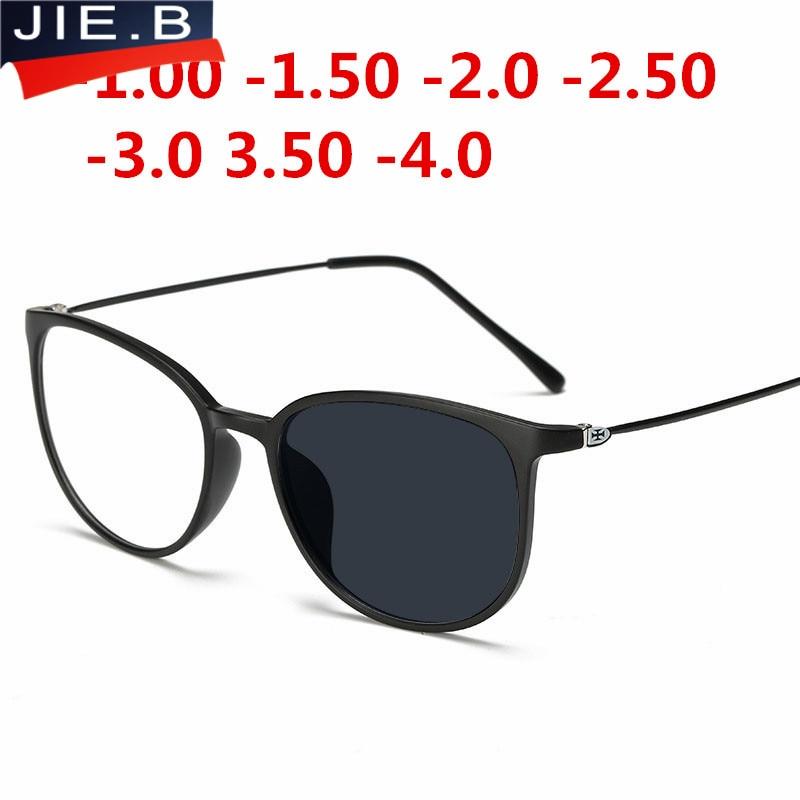 Anti-UV Finished Optical Eye Glasses Frames With Myopia Lens For Women Men Sun Photochromism  Eyeglasses Degree Oculo -1.0to-4.0