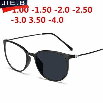 Anty-uv wykończone okulary optyczne ramki okularów z soczewki krótkowzroczność dla kobiet mężczyzn słońce fotochromowe okulary stopni oculo-1.0to-4.0