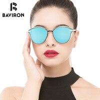 BAVIRON Luxury 3D Sunglasses Women Fashion Style Shield Anti Reflection Sun Glasses Polarized Legs Cat Eye