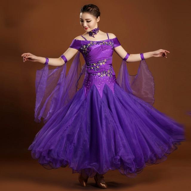 564c90bf09196 purple ballroom dance dress ballroom dancing latin ballroom dress modern  dance costumes tango waltz dress woman