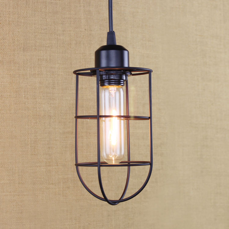 Loft Vintage Industrial Retro Pendant Lamp Edison Light E27 Holder Iron Restaurant Bar Counter Attic Bookstore Cage Lamp WPL096 vintage loft industrial edison flower glass ceiling lamp droplight pendant hotel hallway store club cafe beside coffee shop