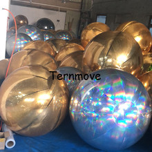 Rainbow color Party wedding Decoration giant Reflective Inflatable Mirror Balls Balloons,advertising inflatable mirror balls