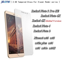 9H Tempered Glass For xiaomi Redmi Note 3 PRO SE 4X Note 4 2 kate Xiaomi 4C 4S mi5S mi5 mi6 Screen Protect smartphone film case