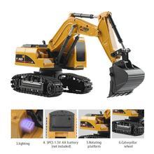 1/24 simulação de controle remoto modelo de escavadeira 5 canais 2.4ghz escavadoras rastreador carro brinquedos para crianças