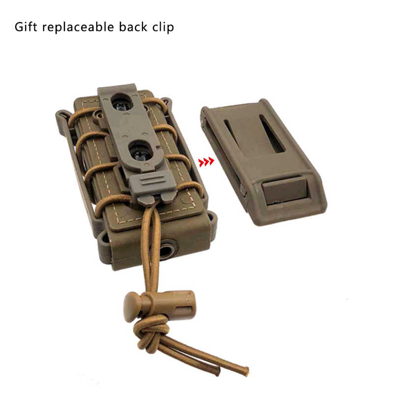 Mag Pouch Open Top Bag Molle Tactical Single Rifle  for 9mm cartridge holder Magazine Pouch Outdoor 9mm bullet Rifle Pocket