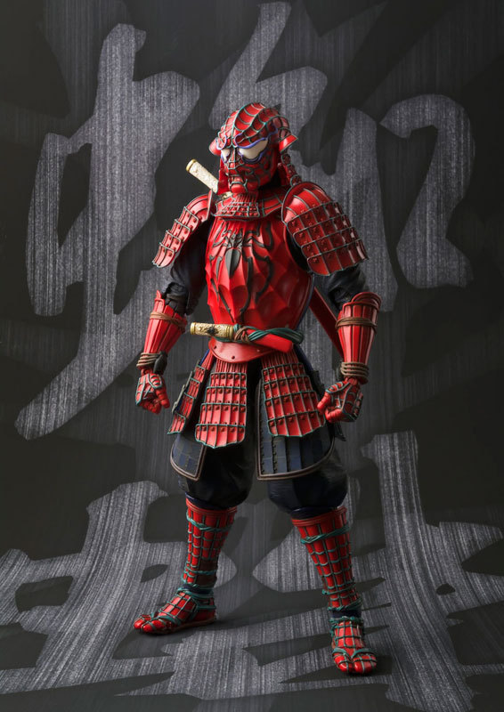 Spider-Man Action Figure Warrior Spiderman Sic Samurai Taisho PVC MOVIE Realization 170mm Anime The Amazing Spider-Man star wars action figure imperial stormtrooper sic samurai taisho pvc 170mm realization anime star wars model toys tobyfancy