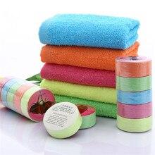 1 шт., смешанные цвета, компрессионное полотенце, большое, хлопок, нетканое, много цветов, портативное полотенце для путешествий, высокое качество, экологичное полотенце