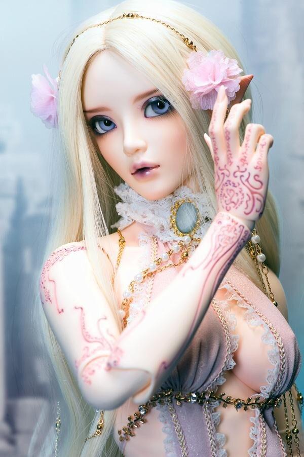 Chloe de bjd/sd poupée Eye Coréenne poupée (Présenté les yeux et maquillage)