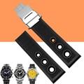 Aotu 22mm new black waterproof mergulho borracha de silicone assista straps dobre buckle para breitling avenger relógio superocean + ferramentas